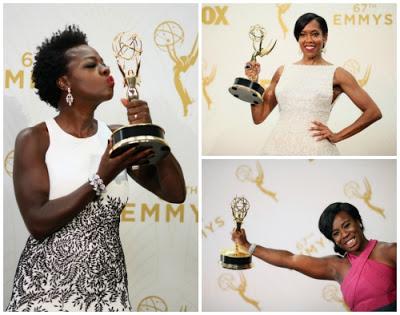 Viola Davis, Regina King, and Uzo Aduba at 2015 Emmy Awards - Photo Credit: The Academy