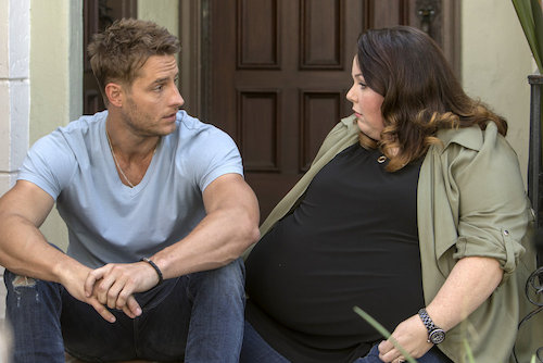 "THIS IS US -- ""The Big Three"" Episode 102 -- Pictured: (l-r) Justin Hartley as Kevin, Chrissy Metz as Kate -- (Photo by: Ron Batzdorff/NBC)"